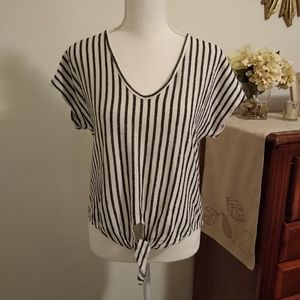 Caution to the Wind Size Med striped shirt